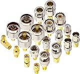 YILIANDUO 20 Type Set HF Koax Adapter Kits SMA Buchse auf SMA/BNC/N-Typ/F/UHF Buchse Gerade Vergoldeter Vernickelter Erweiterungs Adapter …