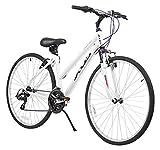 XDS Women's Cross 200 21-Speed Step-Through Hybrid Bicycle, 44 cm, White