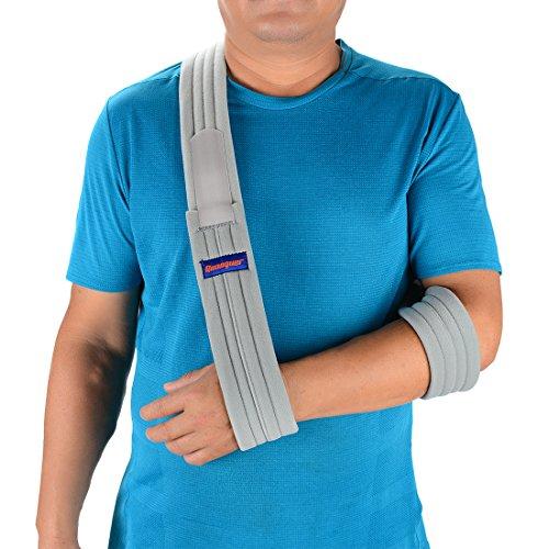 Arm Sling Shoulder Immobilizer- Adjustable Arm Support Strap for Broken Arm Immobilizer Wrist Elbow...