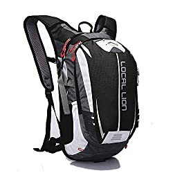 OUTDOOR LOCAL LION Adult Bike Backpack Hydration Pack Travel Backpack Sports Backpack Daypack Outdoor Ultralight 18L, Black