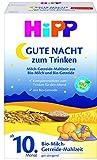 Hipp Bio Milchnahrung Gute-Nacht! Milch-Getreide-Mahlzeit, 4er Pack (4 x 500 g)
