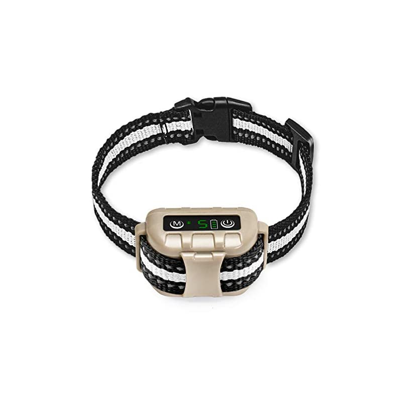 dog supplies online bark collar no bark collar rechargeable anti bark collar with adjustable sensitivity and intensity beep vibration and no harm shock bark collar for small medium large dogs