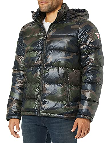 cappotto uomo guess GUESS Men's Mid Weight Puffer Jacket