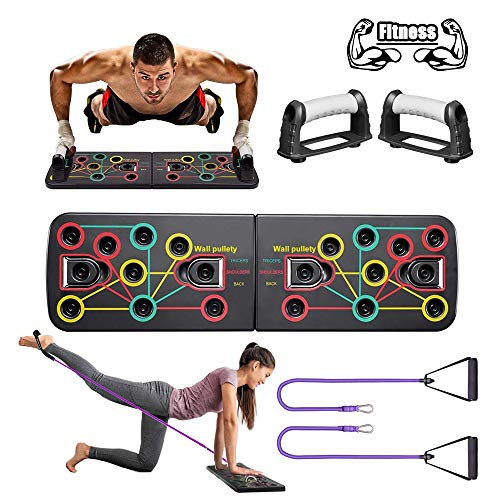 BAISIQI Push Up Board, 13 in 1 Home Fitness Equipment Muscle Board, Multifunction Gym...
