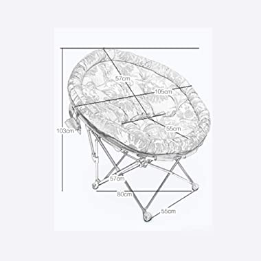 Carl Artbay Footstool Dark Purple Seat Cover Folding Chair Individual Moon Chair Lounge Chair Lunch Break Sleeping Couch Home