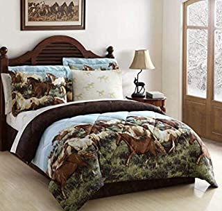 Ellison First Asia 20691804BB-MUL Thunder Run Bed in a Bag Comforter Set44; Brown - King Size44; 8 Piece