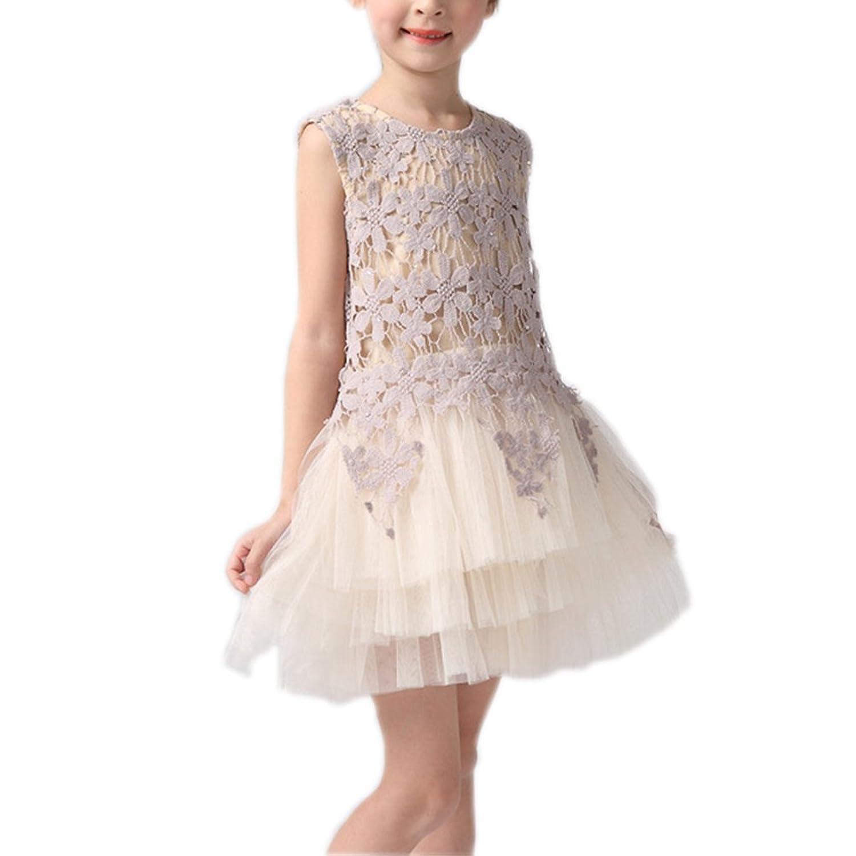 YANIGA ガールズ 女の子の春ドレス キッズ春 秋 かわいいお洋服