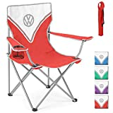 Volkswagen VW Folding Camping Chair Lightweight Portable - Heavy Duty With Cup Holder