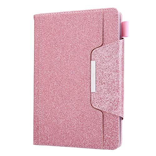 """JIan Ying - Custodia per tablet da 10"""", con supporto per carte di credito universale da 9"""" a 10,1"""", colore: Rosa glitter"""