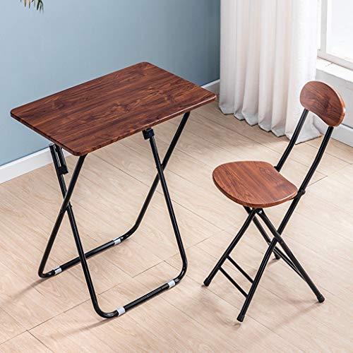 Mesa plegable y una silla, que se utiliza for dormitorio de casa plegable, el alquiler, la escritura y el aprendizaje, simple mesa plegable, portátil de escritorio, mesa de ordenador rectangular de 60