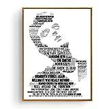 Mengyun Nordische Malerei Poster Pop Eminem Mick Jagger
