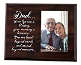 Loss of Father Gift - A warming grief gift for someone dealing with a dad who has passed away Tribute: A piece of decor to always remember your loved one by In Memory of Loved one Gifts- A solid frame for 4x6 photos that can be displayed on a desk or...