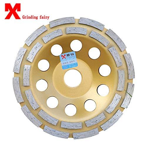 Maslin Diamond - tazón de disco para pulir y amasar, para hormigón, mármol, granito, cerámica, rueda de molienda de 125 a 180 mm