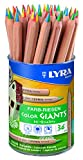Lyra Color Giants L3933365 Pastelli Mina 4-colori Barattolo 36 pz