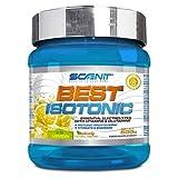 Best Isotonic | Bebida isotónica hidratante con vitaminas, glutamina, sales y minerales | Para ciclismo, running y fitness | Sales minerales para el deporte | 500 g (Limón)
