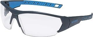 Gafas de Seguridad uvex i-Works - EN 166 170 - Antivaho y Resistente a arañazos y químicos - Transparente/Azul