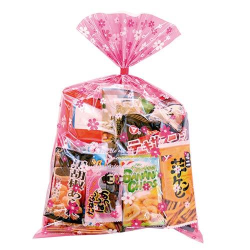 花柄袋 500円 大人おつまみスナック B お菓子袋詰め合わせ おかしのマーチ (omtma6271)