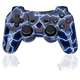 PS3 Controller Wireless - OUBANG Best PS3 Remote with Sixaxis Control Gamepad for Playstation 3 (Spark Blue)
