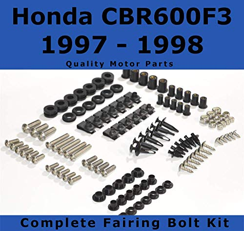 Fairing Bolt Kit body screws fasteners, Compatible with Honda CBR 600 F3 1997-1998