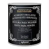 ZYLAZEL 4120203 Pintura para muebles Negro Regaliz, 750 ml (Paquete de 1)