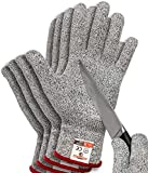 HereToGear Cut Resistant Gloves - 2 PAIRS XL - Food Grade, Level 5 Protection - Great for Filleting Fish or Mandoline Slicers Use
