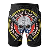 XCNGG Pantalones Cortos de Playa Uncle Sam's Misguided Children Male Swim Trunks Quick Dry Waterproof Beach Pants Beach Board Short with Pockets