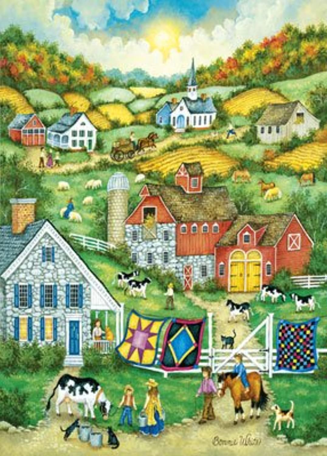 Jigsaw Puzzle Collectible Tin 1000 Pieces 11.5 X16.5 -World's Smallest-colors Of Fall