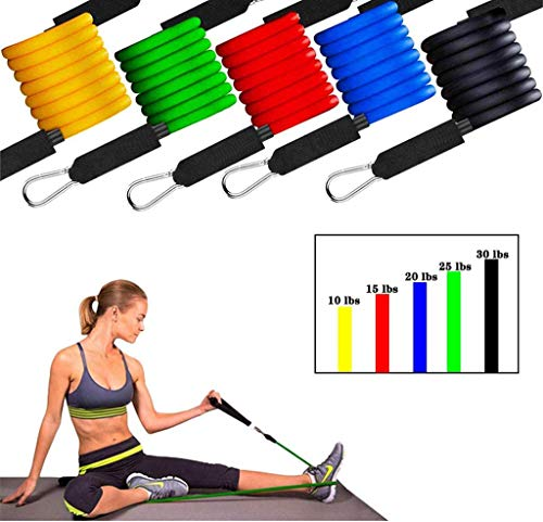 Fitness-Widerstand-Bänder, Pilates Workout Bands Fitness Start Set Perfekte Muskelaufbau Für Arme Zurück Bein Brustbauchwiderstandstraining