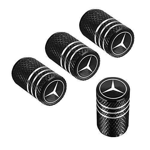 QINGTECH Valve Stem Caps,Tire Caps for Car,Motorbike,Trucks,Bike and Bicycle Aluminum 4pcs (black)