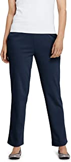 Lands' End Women's Sport Knit High Rise Elastic Waist Pull On Pants X-Small Classic Navy