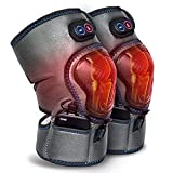 VnioLife Massaging Heated Knee Massager, Heating Vibration Knee Brace Wrap Support Wireless Rechargeable Warm Therapy Heating Pad, Joint Pain Arthritis Meniscus Relief (A Pair)