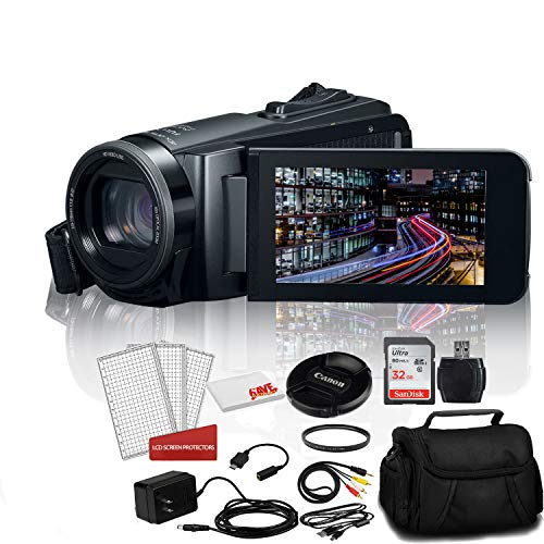 Canon Vixia HF W11 Waterproof and Shockproof Camcorder Bundle Kit with 32GB Memory Card + Carrying Bag + More