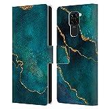 Head Case Designs sous Licence Officielle LebensArt Glam Turquoise Marbre minéral Coque en Cuir à...