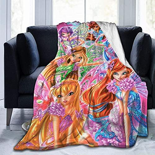 Winx Club Ultra Soft Micro Fleece Blanket Boys/Girls/Teen/Kid Warm Flannel Blankets and Throw Blankets All Season Sofa Bed Blanket and Living Room,50'X40'
