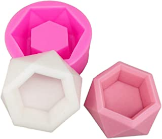 1 PC Hexagon Flower Pot Silicone Mold - MeiMeiDa Succulent Plant Vase Gypsum Cement Molds Concrete Clay Mould, Ashtray Resin Moulds, Candle Holder Wax Casting Mold