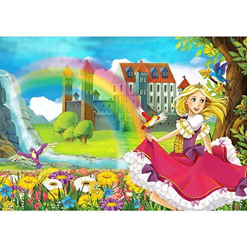 Papier peint non tissé Photo - TOUS ENFANTSMOTIF en un coup d'oeil! PREMIUM PLUS - 200x140 cm - MY LITTLE PRINCESS - Fée fée elfes princesse fée - no. 114
