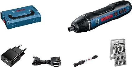 Bosch Professional Akkuschrauber Bosch GO inkl. 25-tlg. Bit-Set, Ladekabel, L-BOXX Mini
