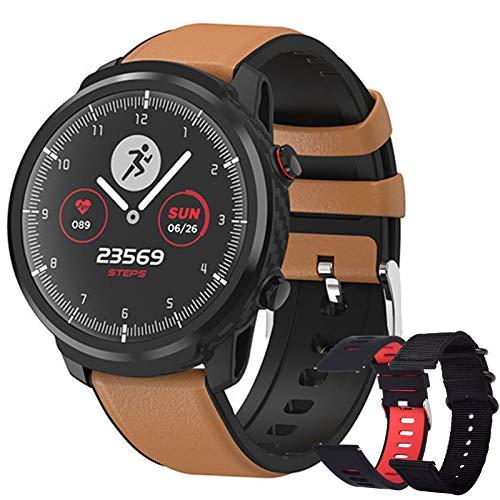 Smartwatch, Reloj Inteligente Hombre, Smartwatch Hombre de Pantalla Táctil Ccompleta Impermeable IP68, Pulsera de Actividad Inteligente con Deportes,Reloj Deportivo Hombre para iOS y Android (Marrón)