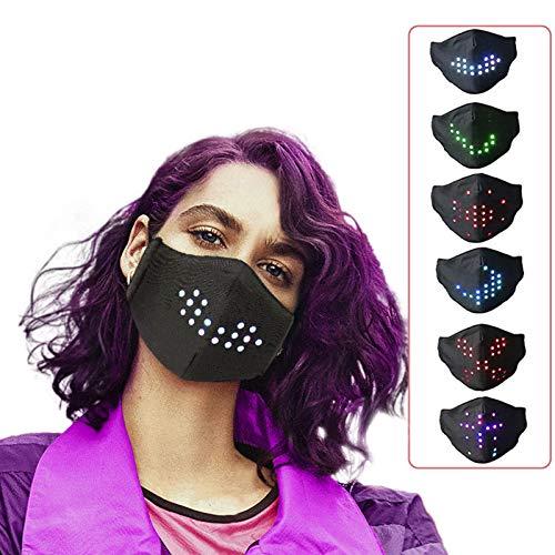 Gift LED Voice-Activated Luminous Face_Mask, Masquerade Festival Party Face_masks for Coronàvịrụs Protectịon, Adult 1Pcs FDẴ ͟M͟A͟S͟K͟ Outdoor