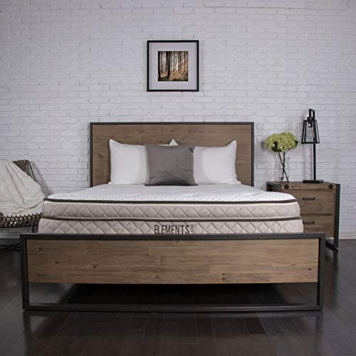 "Elements Latex by Dreamfoam Bedding- Magnolia 10"" Total Latex Mattress, Cal King-Soft"
