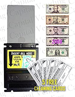 Mars MEI AE2611 U3 120vac $1-$20 Dollar Bill Validator - Includes 5 Cleaning Cards