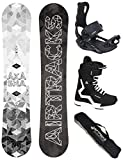 AIRTRACKS Snowboard Set - Tabla Akasha Wide 157 - Fixation Master - Softboots Savage Black 44 - SB Bag