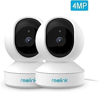 Reolink 4MP Cámara de Seguridad Inteligente para el hogar. 2.4GHz 5GHz WiFi de Banda Dual con Audio bidireccional y alertas. Cámara IP para monitoreo de bebés Mascotas niñeras, E1 Pro (2pcs)