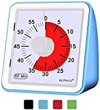 60 Minute Visual Timer – small Classroom timer for kids,Time Management Tool for Kids and Adults Baking Cooking Steaming Barbecue(Blue)