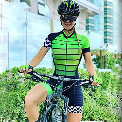 Triathlon Damen Radfahren Jersey Kurzarm Radfahren Tragen Damen Anzug Mountainbike Radfahren Wear (Color : 14, Size : S)