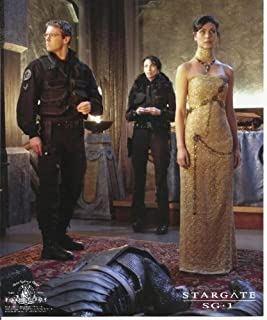 Stargate SG-1 Michael Shanks and Claudia Black with Morena Baccarin 8 x 10 Photo