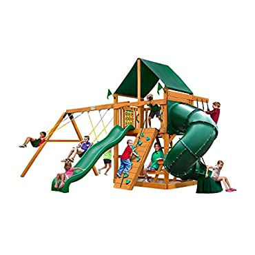 Gorilla Playsets Mountaineer Swing Set with Amber Posts