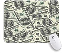 ECOMAOMI 可愛いマウスパッド ベン・フランクリンのデザインの肖像画と米国連邦準備制度のお金のドル紙幣 滑り止めゴムバッキングマウスパッドノートブックコンピュータマウスマット