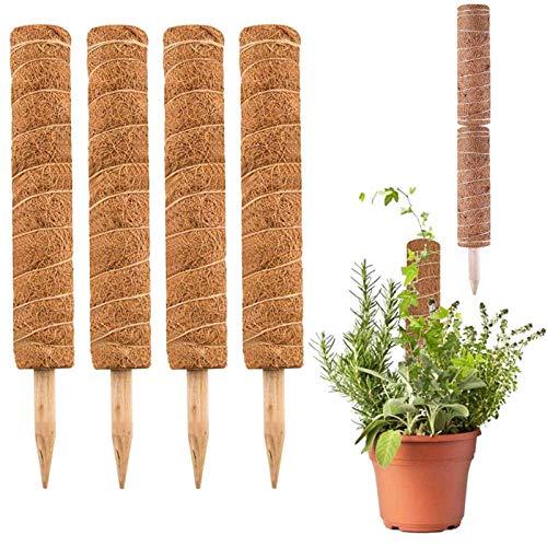 YOMERA Kokos Totem 15,7 Zoll Kokos Totempfahl Coir Moss Totem Pole Coir Moss Stick zur Erweiterung der Pflanzenunterstützung, Klettern in Zimmerpflanzen Creepers Climbing Indoor Plants (4PCS)