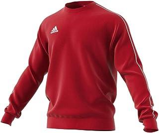 adidas Australia Men's Core 18 Sweatshirt (Long Sleeve), Power Red/White, L